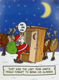 Santa forgot glasses