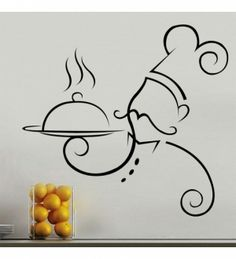 Chef at work wall decal