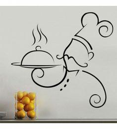 Decorar paredes cocina chef vinilos pinterest - Utensilios para pintar paredes ...