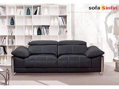 Sofá moderno de 3 y 2 plazas modelo Brandon fabricado por Divani Star en Sofassinfin.es