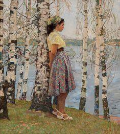 Белых Алексей Павлович [1923] Весна на Волге. 1968