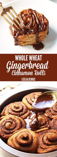 Whole Wheat Gingerbread Cinnamon Rolls make for a cozy Christmas ...