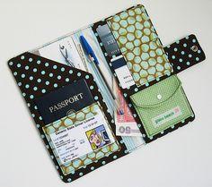 Passport Wallet-Retro Blue Dots | Flickr - Photo Sharing!