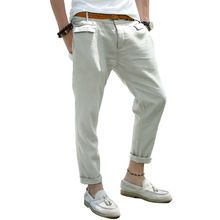009039cd4c0 Like and Share if you want this men trousers linen casual pants overalls male  straight slim
