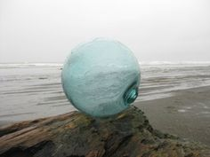 12 Japanese Glass Fishing Float  Light Teal by GlassFloatJunkie, $89.00