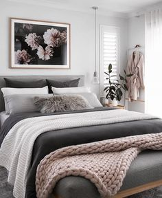 cozy & luxury master bedroom decor ideas 49 - Decoration for All Dream Bedroom, Home Decor Bedroom, Modern Bedroom, Contemporary Bedroom, Bedroom Goals, Bedroom Inspo, Feminine Bedroom, Bedroom Neutral, Single Bedroom