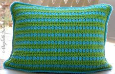 With this easy stitch pattern you can make a pretty little, accent pillow. It consists of 3 row of sc (after each sc row ch 1, turn) and 1 row of †dc cluster  repeat pattern-on an even number of st...