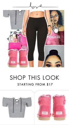 """""""pink💕"""" by laylay143domo ❤ liked on Polyvore featuring Topshop and UGG Australia"""