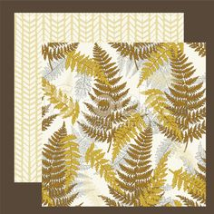 Coordinating Ferns Seamless Pattern Set royalty-free stock vector art