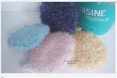 Éponges lavables tawashi Couture, Fur Slides, Creations, France, Etsy, Crochet, Knitting Yarn, Amigos, Tableware