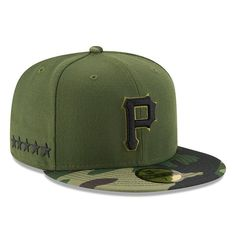 Pittsburgh Pirates New Era 2017 Memorial Day 59FIFTY Fitted Hat - Green 16e41f53210