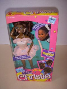 Vintage-1988-Style-Magic-African-American-Christie-Doll-1288-Barbie-NRFB