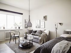 A beautiful one room apartment.