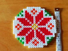 Christmas coaster hama beads by Babacar Creations