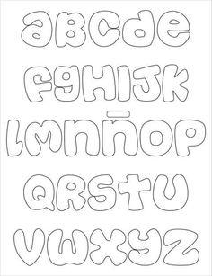 Souvenirs Stencil Lettering, Lettering Tutorial, Graffiti Lettering, Alphabet Templates, Alphabet Stencils, Felt Name, Printable Letters, Felt Patterns, Alphabet And Numbers