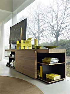 contemporary wooden sideboard SEQUENCE by Patricia Urquiola  Molteni & C