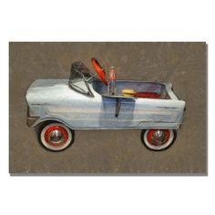 Viv + Rae Tee Bird Pedal Car Canvas Art Size: