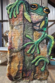 Wet Felted Wall Hanging by Brenda by thetinthimble, via Flickr