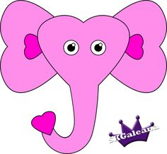 Free Paper Craft Printable Valentine's Day Elephant Named Lucy | SKGaleana