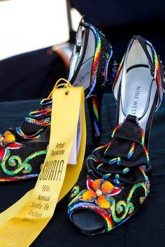 Beaded fantasy: Santa Fe Indian Market winner, 2012 Made by Jacinta Tsosie