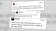 Kanye West tiene fanes que no saben quién es Paul McCartney