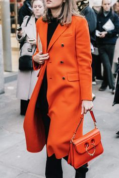 ORNGE COAT WORKS ! London calling, yes, I was there, too #LFW