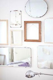 mélange de miroirs vintage