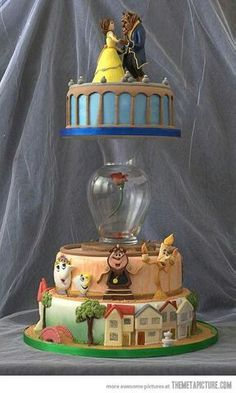 Wedding Cake Beauty & the Beast