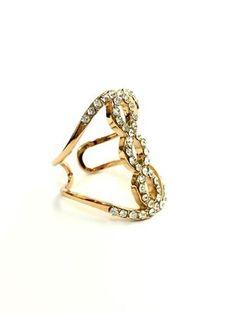 La Bella Donna - Statement δαχτυλιδι με λευκα ζιργκον Gold Rings, Rose Gold, Jewelry, Fashion, Moda, Jewels, Fashion Styles, Schmuck, Jewerly