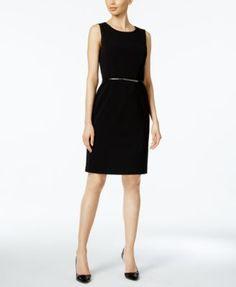 Nine West Belted Sheath Dress | macys.com