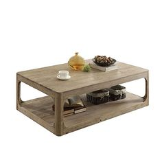 Acme Furniture Zaina Brown Wood End Table (Coffee Table, Natural Oak, 55 x x Coffee And End Tables, Lift Top Coffee Table, Wood End Tables, Side Tables, Acme Furniture, Unique Furniture, Rustic Furniture, Furniture Vintage, Outdoor Furniture