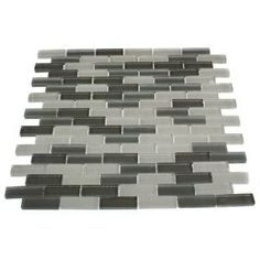 Splashback Tile Blend 12 in. x 12 in. Glass Mosaic Floor and Wall Tile-CONTEMPO BROOKLYN at The Home Depot