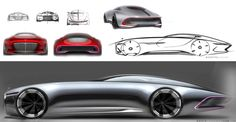 Daily Sketch: Vision Mercedes Maybach 6 Concept from the design sketch board: http://www.carbodydesign.com/design-sketch-board/