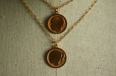Son and Daughter Necklace, Silhouette Pendants, Personalized Vintage, Girl, Boy, Mother's Day, Family Jewelry, Double, Two Children