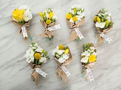 How do I create a bunch of flowers?How to make a video for making Dried Flower Bundle Gift Topper. Mini bouquet gift lids with dried Single Flower Bouquet, Flower Bouquet Diy, Bouquet Wrap, Diy Wedding Bouquet, Floral Bouquets, Wedding Favors, How To Wrap Flowers, Bunch Of Flowers, Diy Flowers