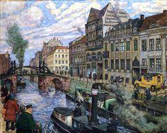 "Hans Baluschek (1876-1935)  ""Friedrichsgracht in Berlin"""