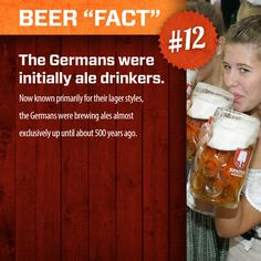 """Beer """"Fact"""" #12.     More at: http://www.swagbrewery.com/blogs/beer-facts"""