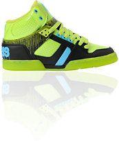 Osiris NYC 83 Lime Drip, Black & Cyan Skate Shoe