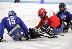 Ice hockey sleds allow individuals experiencing a variety of different lower extremity disabilities the ability to participate in ice hockey. The sleds are propelled by the back end of a modified hockey sticks that are operated by the users hands.