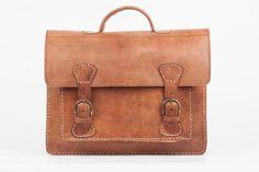 Vintage Leather Bag Aktentasche Notebook Lehrertasche von ZSWi