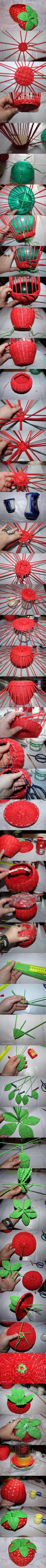 DIY Strawberry Bowl DIY Strawberry Bowl - love the base .