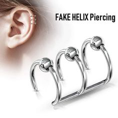 FAKE HELIX Piercing Piercing, Bracelets, Silver, Jewelry, Instagram, Schmuck, Jewlery, Jewerly, Piercings