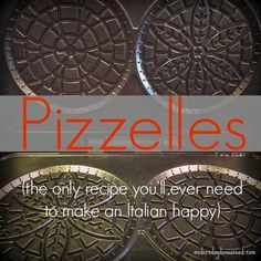 Pizzelles {Recipe} | Confessions of a Stay-At-Home Mom