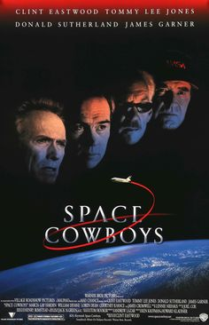 """Film: Space Cowboys (2000) Year poster printed: 2000 Country: USA Size: 27""""x 40"""" This is vintage one-sheet movie poster from 2000 for Space Cowboys starring Clint Eastwood, Tommy Lee jones, Donald Sut"""