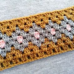 Granny Stripe Color Change Crochet  Tutorial - (mirazul.tumblr)