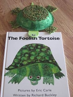 "Tortoise craft with Eric Carle's ""The Foolish Tortoise"""