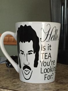 00bf34bfafb6 Hello...is it TEA you re looking for Funny Lionel by VinylMamashop