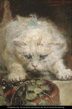 Henriëtte Ronner-Knip (Holanda/Alemania, 1821-1909). On the Prowl