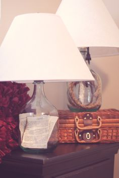 Love the look of these lamps...
