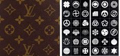 """LV Monogram & Japanese Heraldry:Do you see the similarities? """"It's no accident tht Louis Vuitton was successful in Japan. One of them is little known. In Japan, 'LV' had the obvious legitimacy of being a source of valuable objects in the eyes of the elite.The LV monogram canvas created in 1892 carried small geometric signs that had no meaning for the average Westerner. In fact, they are Mon signs, linked to Japanese heraldry symbols; in 1892 Europe was in the grip of a Japanizing current…"""
